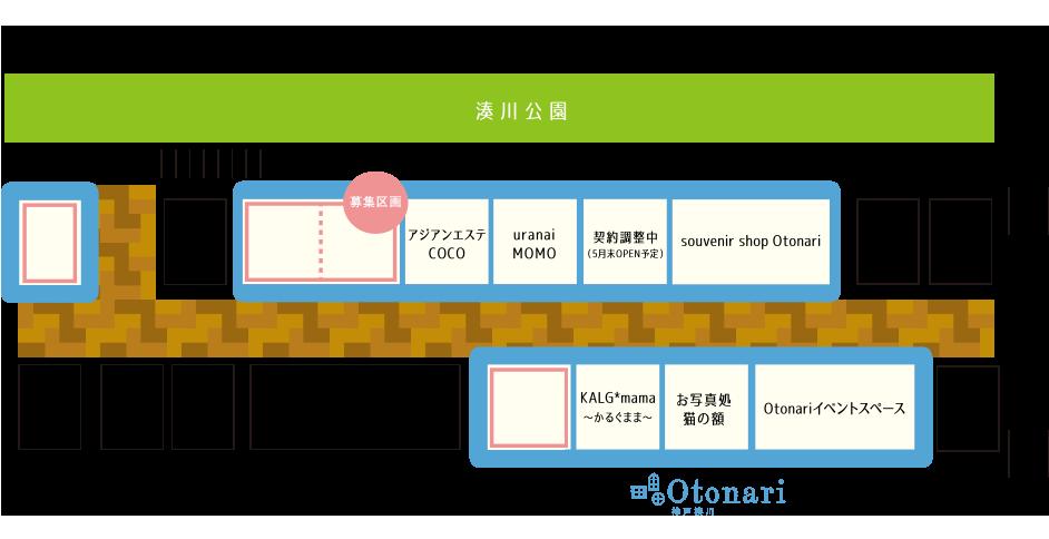 ただ今、「souvenir shop Otonari」の2区画を募集しています!
