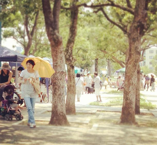 7月の「湊川公園手しごと市」を開催しました